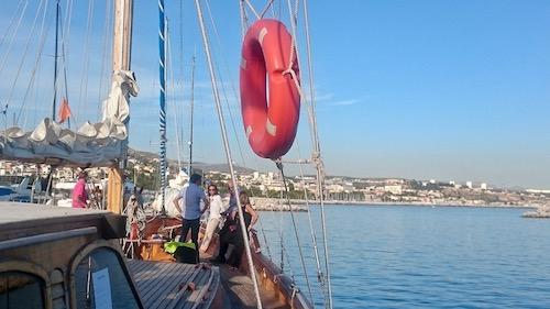 Traiteur sur un bateau à Marseille